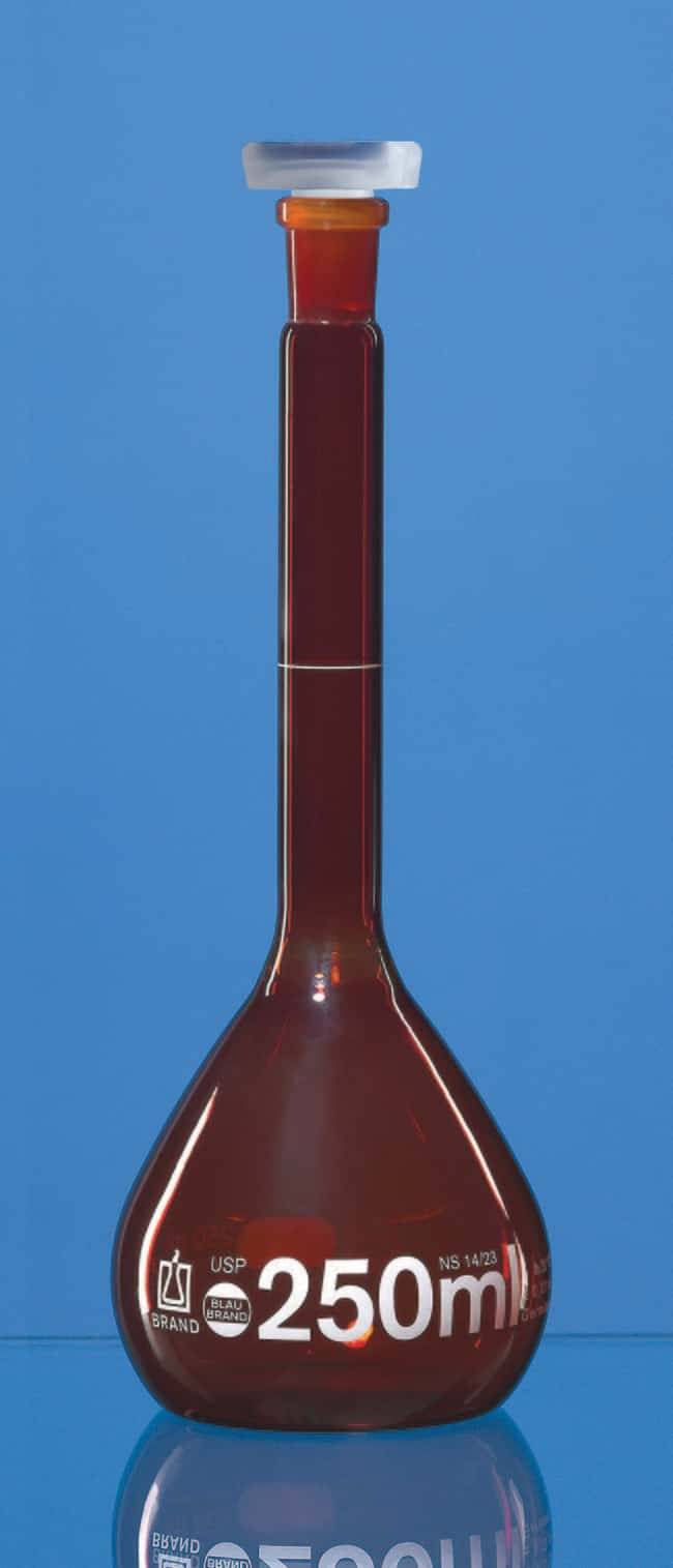 BRAND™Braune USP-Messkolben Fassungsvermögen (metrisch) 20ml BRAND™Braune USP-Messkolben