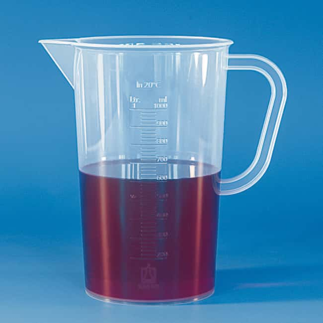Brand™ Graduated Beakers with Handle, Embossed Scale Embossed scale; Capacity: 5000mL Brand™ Graduated Beakers with Handle, Embossed Scale