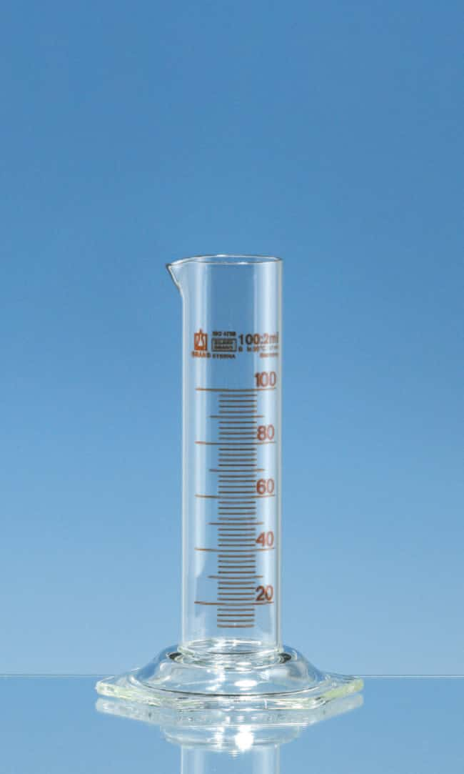 Brand™Silberbrand™ ETERNA Class B Borosillicate Glass Low Form Measuring Cylinder Capacity: 10mL Brand™Silberbrand™ ETERNA Class B Borosillicate Glass Low Form Measuring Cylinder