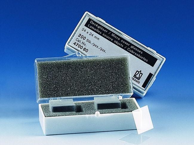 BRAND™Cover Glasses for Microscope Slides Shape: Rectangular, Size (Metric): 24 x 50 mm BRAND™Cover Glasses for Microscope Slides