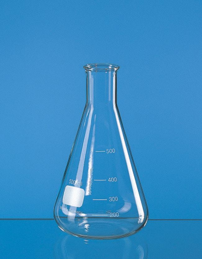 BRAND™Narrow Neck Glass Erlenmeyer Flasks Capacity (Metric): 250 mL BRAND™Narrow Neck Glass Erlenmeyer Flasks