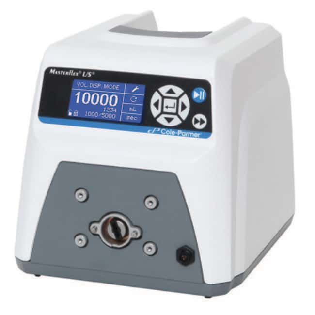 Cole-Parmer™ MasterflexLive™ L/S Cloud-Enabled Digital Drive rpm range: 0.1-600, flow rate range: 0.006-3400 mL/min Cole-Parmer™ MasterflexLive™ L/S Cloud-Enabled Digital Drive