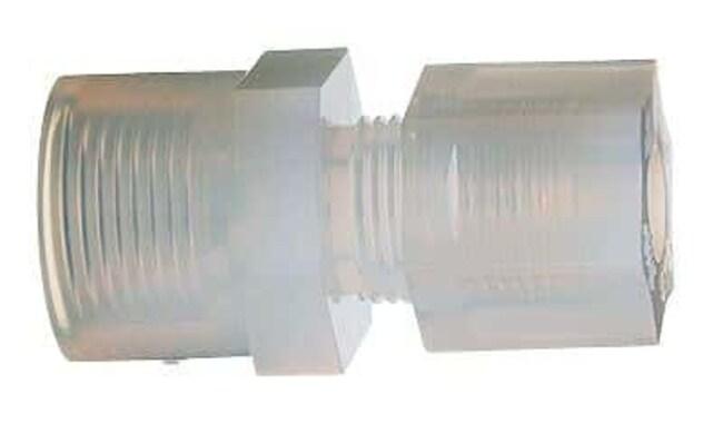 Cole-Parmer™Parker Hannifin™ PFA-Adapter mit Innengewinde und Überwurfmutter Schläuche 1/4Zoll Außendurchmesserx 1/8Zoll NPT(F) Cole-Parmer™Parker Hannifin™ PFA-Adapter mit Innengewinde und Überwurfmutter