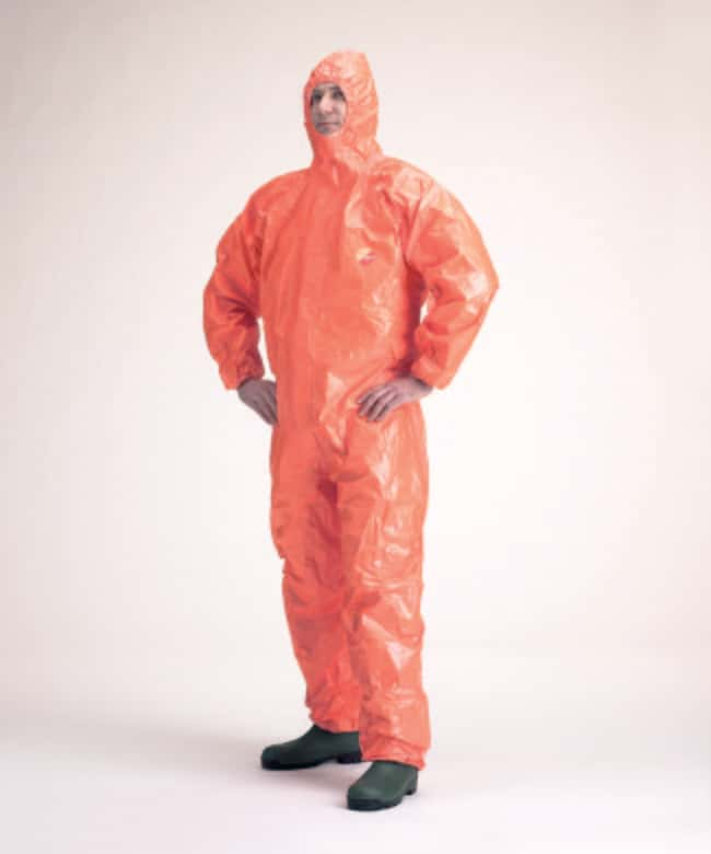 DuPont™ Tychem™ 6000 F Orange Hooded Coverall Size: Medium DuPont™ Tychem™ 6000 F Orange Hooded Coverall