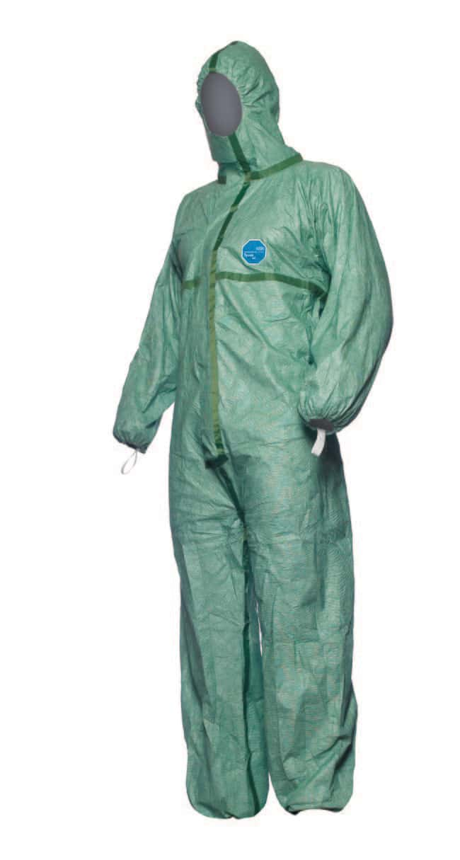 DuPont™ Tyve 600 Plus  Green Hooded Coverall Size: Large DuPont™ Tyve 600 Plus  Green Hooded Coverall
