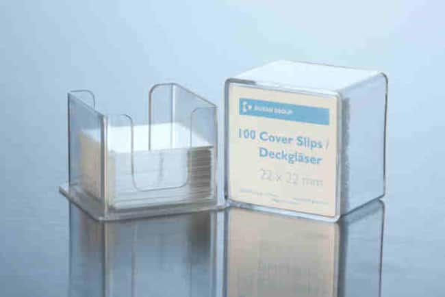 Duran™ Borosilicate Glass Cover Slips Length: 40 mm; Thickness: 1 mm Duran™ Borosilicate Glass Cover Slips