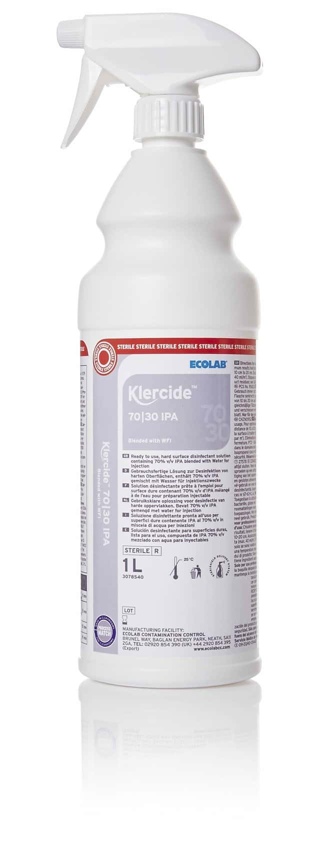 Ecolab™ Klercide™ 70/30 Isopropyl Alcohol Blended with WFI 1L Ecolab™ Klercide™ 70/30 Isopropyl Alcohol Blended with WFI