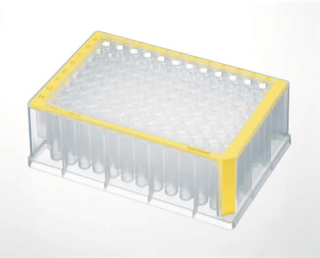 Eppendorf™96-Well DNA LoBind Deep Well Plates Skirt Color: Yellow, Well Color: Clear, 20Pack Eppendorf™96-Well DNA LoBind Deep Well Plates