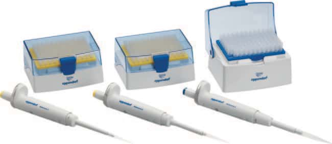 Eppendorf™ Reference™ 2 EU-IVD Single Channel Variable Volume Pipette 3-pack Option 2:  2 – 20μL yellow, 20 – 200μL, 100 produits trouvés