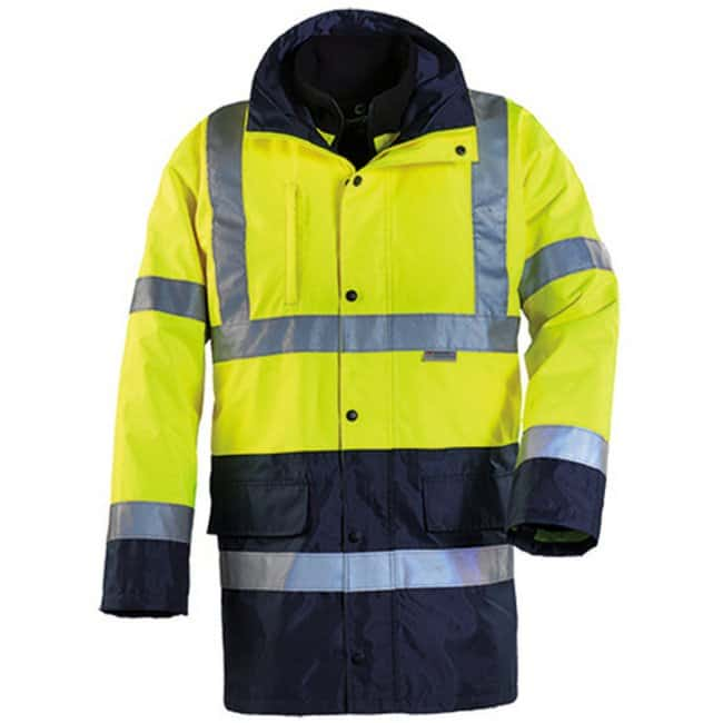 Euro Protection™HI-WAY 4-in-1, High Visibility Parka Large, Yellow/Navy Euro Protection™HI-WAY 4-in-1, High Visibility Parka
