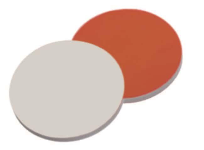 Fisherbrand™Septum für 8-425 Gewindekappe RedRubber/PTFE rot-orange/beige 1mm Dicke 45° Shore A Fisherbrand™Septum für 8-425 Gewindekappe