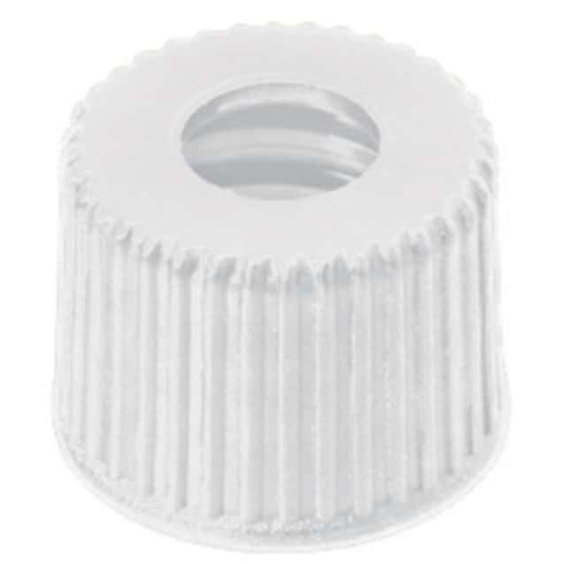 Fisherbrand™ 8mm PP Screw Cap, 8-425 centre hole,white Fisherbrand™ 8mm PP Screw Cap, 8-425