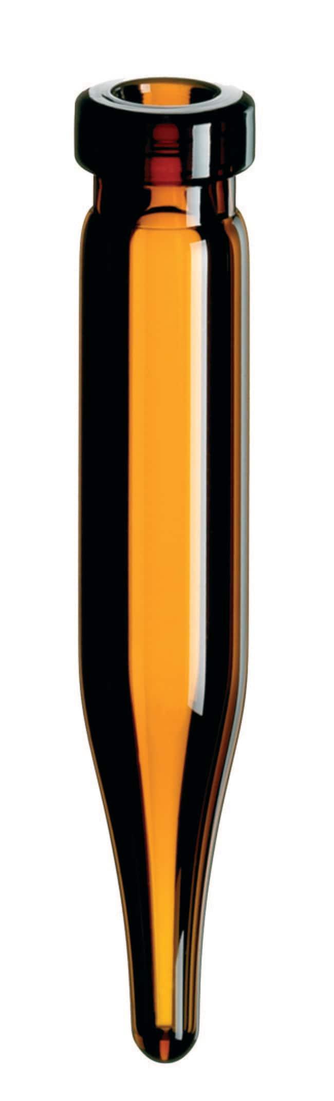 Fisherbrand™8mm Glass Crimp Neck Vial Amber, conical, 0.6mL, 40mm height Fisherbrand™8mm Glass Crimp Neck Vial