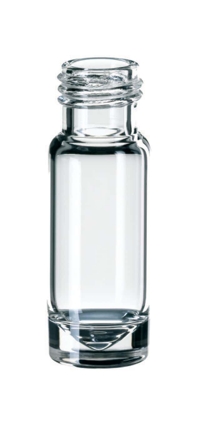 Fisherbrand™ 9mm Short Thread Glass Vial, Wide Opening, Clear Microliter, flat bottom,inner cone,1.1ml Fisherbrand™ 9mm Short Thread Glass Vial, Wide Opening, Clear