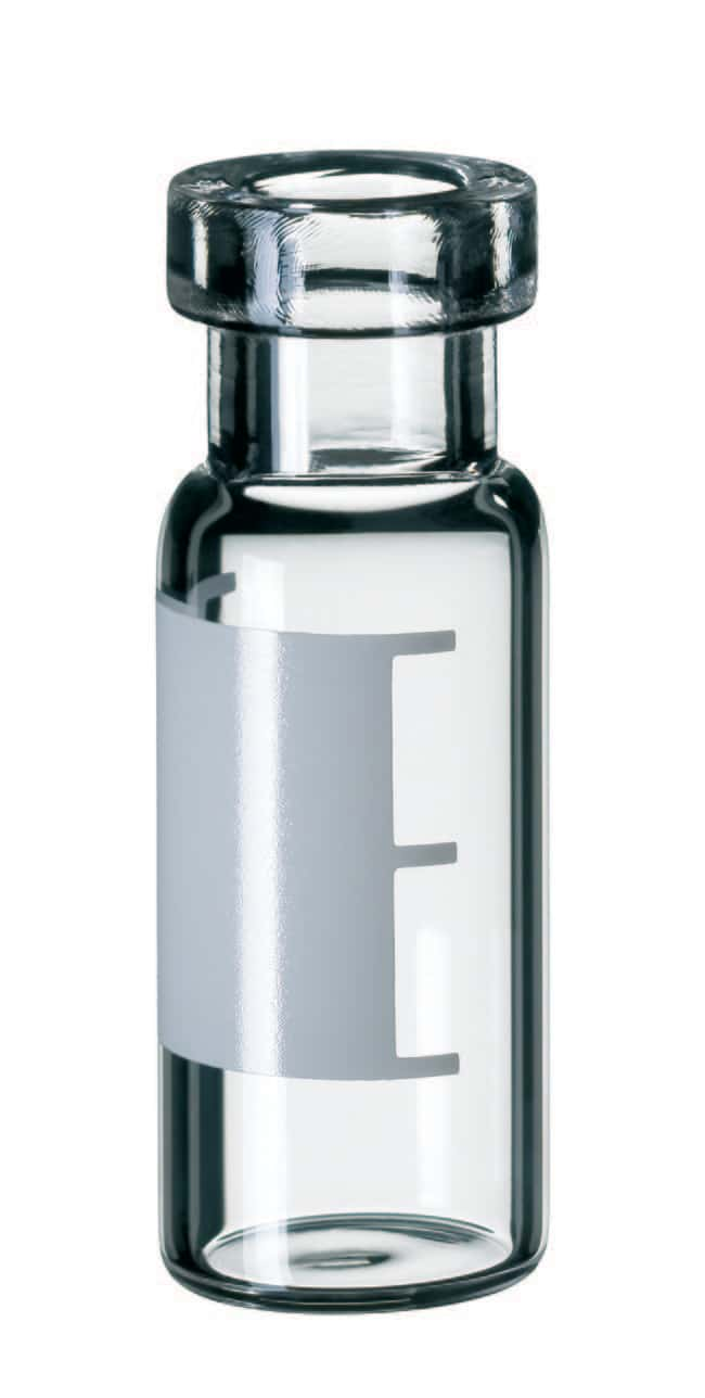 Fisherbrand™ 11mm Crimp Neck Vial, Clear Glass flat bottom,1.5ml,32mm height,silanized Fisherbrand™ 11mm Crimp Neck Vial, Clear Glass