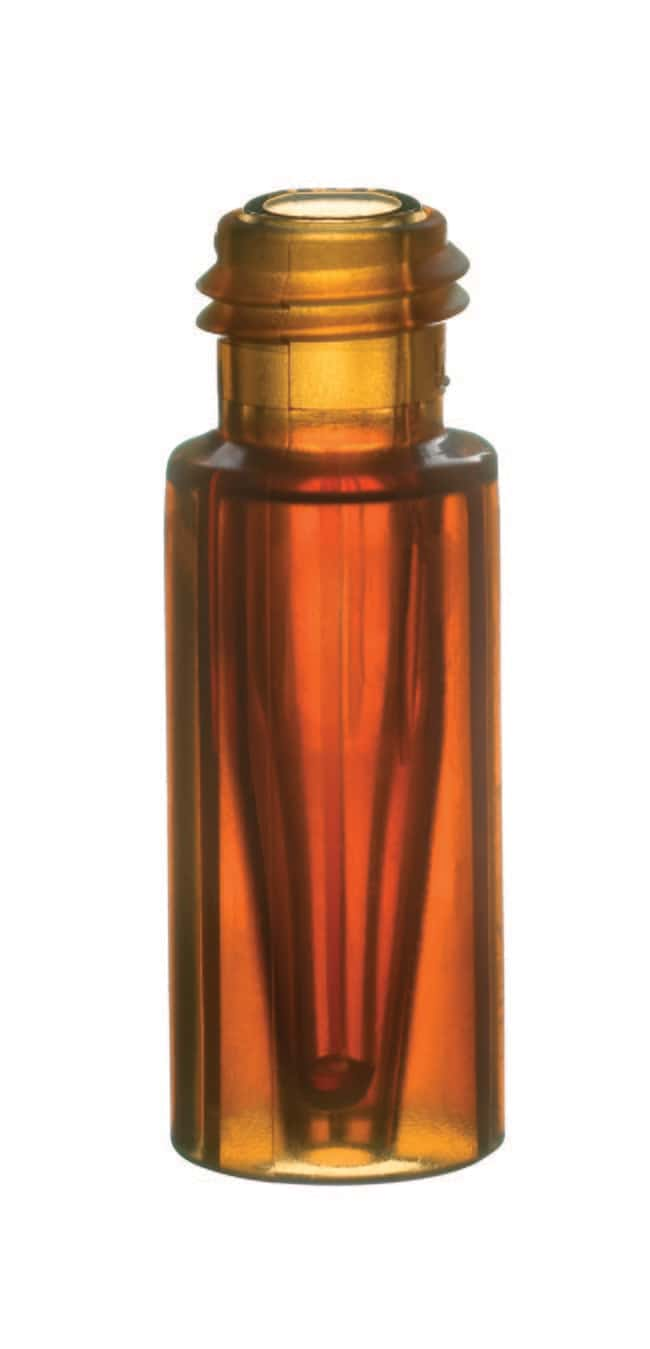 Fisherbrand™9mm Short Thread TPX Vial with integrated Glass Micro-Insert Amber Fisherbrand™9mm Short Thread TPX Vial with integrated Glass Micro-Insert