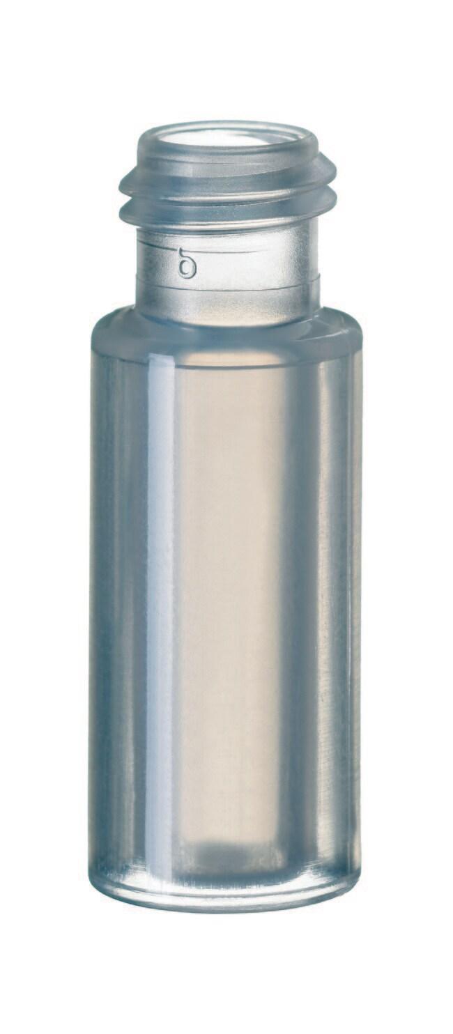 Fisherbrand™9mm Short Thread Plastic Vial, Wide Opening PP,flat bottom,inner cylinder,0,7ml Fisherbrand™9mm Short Thread Plastic Vial, Wide Opening