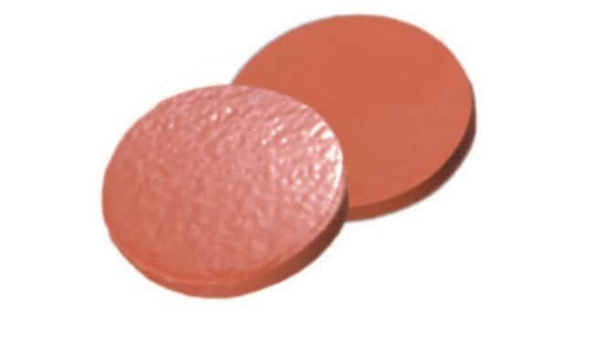 Fisherbrand™Septum für 13-425 Schraubverschluss NAT.Rubber/TEF rot-orange/transparent .,1.3mm Dicke ,60° Shore A Fisherbrand™Septum für 13-425 Schraubverschluss