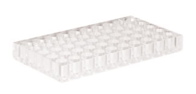 Fisherbrand™Acrylic Racks for Autosampler Vials Cavities diameter: 12mm,50 cavities,dimensions 173 x 95 x 20 mm Fisherbrand™Acrylic Racks for Autosampler Vials