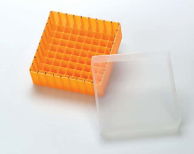 Fisherbrand™ Polypropylene Storage Boxes with lid, Autoclavable, Alphanumeric coded Orange Fisherbrand™ Polypropylene Storage Boxes with lid, Autoclavable, Alphanumeric coded