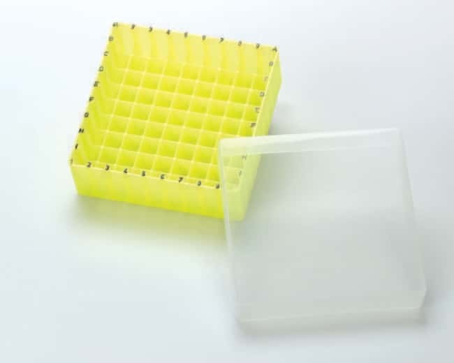 Fisherbrand™Polypropylene Storage Boxes with lid, Autoclavable, Alphanumeric coded Yellow Fisherbrand™Polypropylene Storage Boxes with lid, Autoclavable, Alphanumeric coded