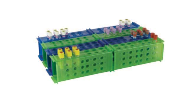 Fisherbrand™ Rack clinique 4 combinaisons Couleur : vert Fisherbrand™ Rack clinique 4 combinaisons
