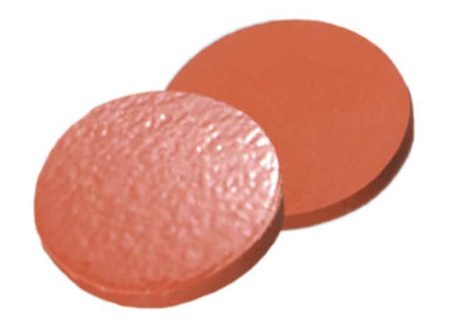 Fisherbrand™Septum for 13mm Crimp Cap N. Rubber/TEF red-orange/transparent,1.3 mm thickness,60° shore A Fisherbrand™Septum for 13mm Crimp Cap