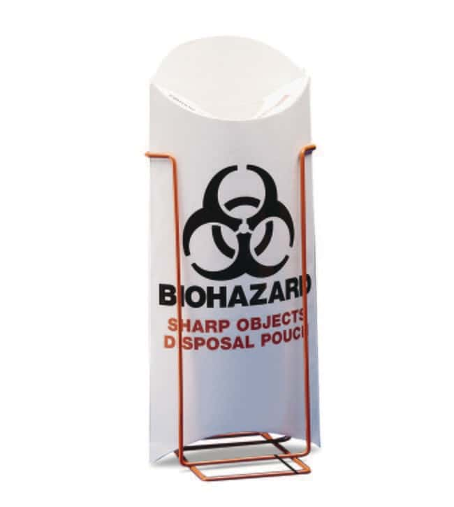 Fisherbrand™ Biohazard Sharp Object Safety Pouch Stand  Sharps Disposal Containers