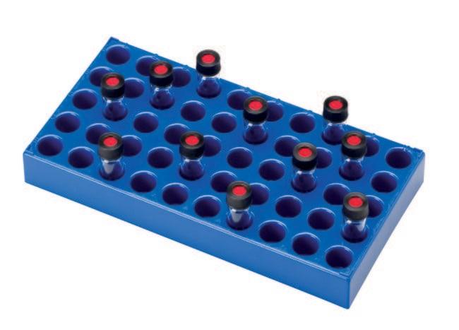 Fisherbrand™Gradillas de polipropileno para viales para muestreadores automáticos Para viales de 4ml, LxAnxAl: 230 x 117 x 28mm Fisherbrand™Gradillas de polipropileno para viales para muestreadores automáticos
