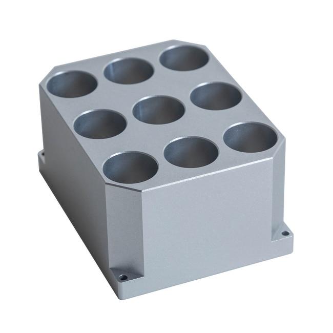 Fisherbrand™Zubehör für Fisherbrand™ Heiz-/Kühl-Mini-Schüttler 9 x 21mm-Block für Röhrchen mit 20mm Durchmesser; Well: Durchmesser 21.7mm, Länge .45mm Produkte