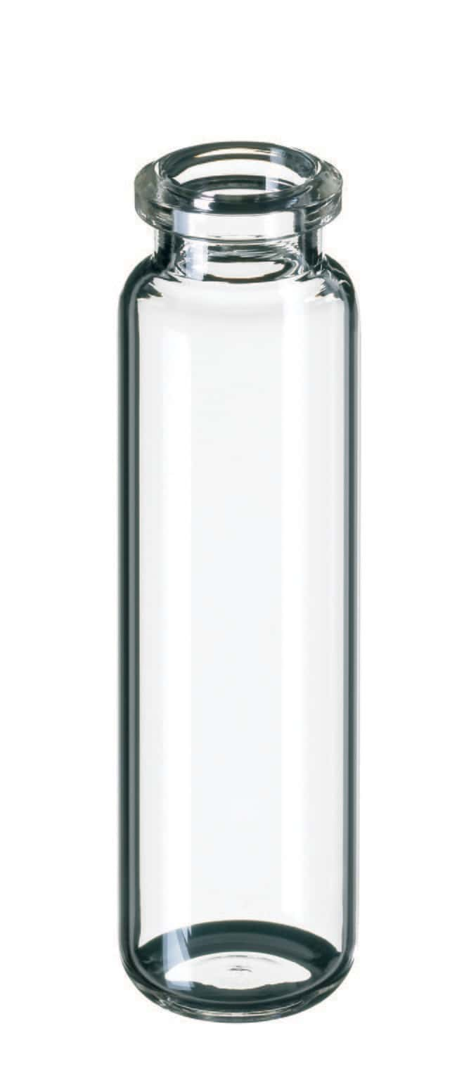 Fisherbrand™ Headspace-Vial, Bevelled Crimp Neck, Clear Glass rounded bottom,20ml,75.5mm height Fisherbrand™ Headspace-Vial, Bevelled Crimp Neck, Clear Glass