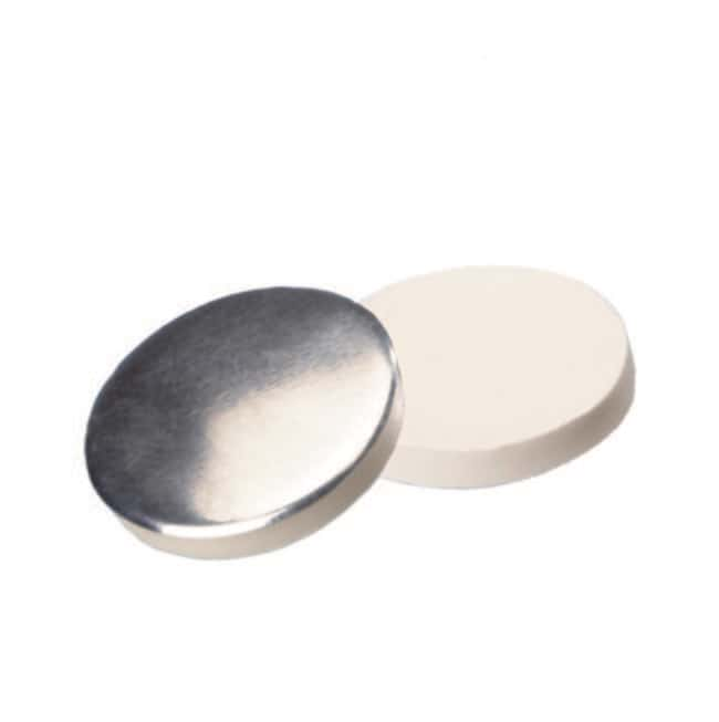 Fisherbrand™Septum für 24-400 Gewindekappe Silikon/Aluminium weiß/silber 3mm Dicke, 50° Shore A Fisherbrand™Septum für 24-400 Gewindekappe