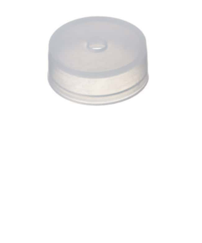 Fisherbrand™ 22mm PE, Cap, Transparent, Center hole 4,3mm centre hole,transparent, 8.4mm height Fisherbrand™ 22mm PE, Cap, Transparent, Center hole
