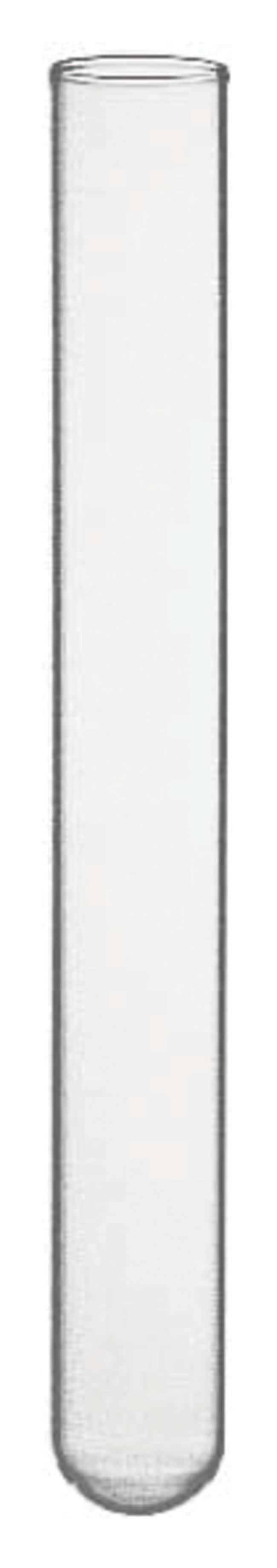 Fisherbrand™Randloses Reagenzglas aus Borosilikatglas mit mittlerer Wandstärke Abmessungen: 16 Durchmesserx 150mmHöhe Fisherbrand™Randloses Reagenzglas aus Borosilikatglas mit mittlerer Wandstärke