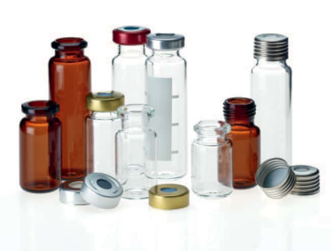 Fisherbrand™Headspace-Vial, Bevelled Crimp Neck, Clear Glass: Autosampler Vials and Vial Sets Autosampler Vials, Caps, and Closures