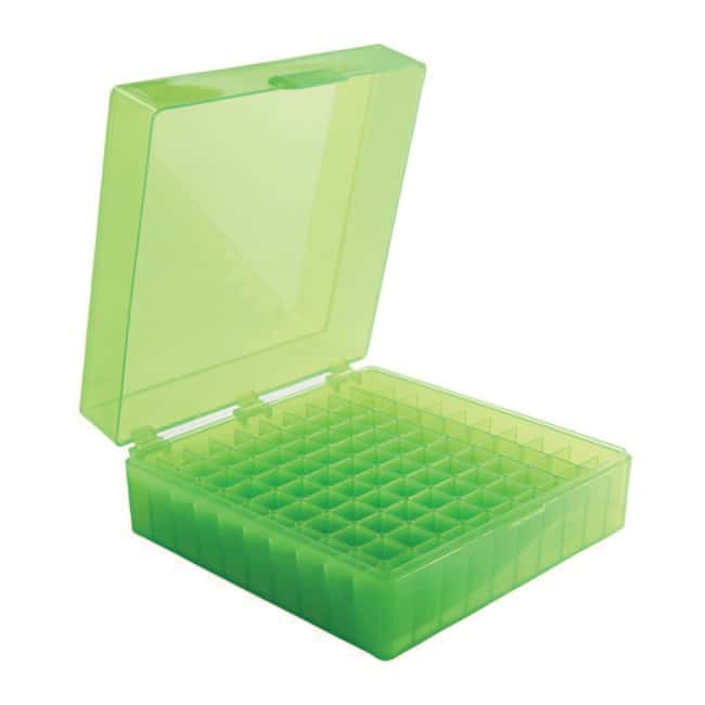 Fisherbrand™ 100-Well Microtube Storage Boxes Color: Green Fisherbrand™ 100-Well Microtube Storage Boxes