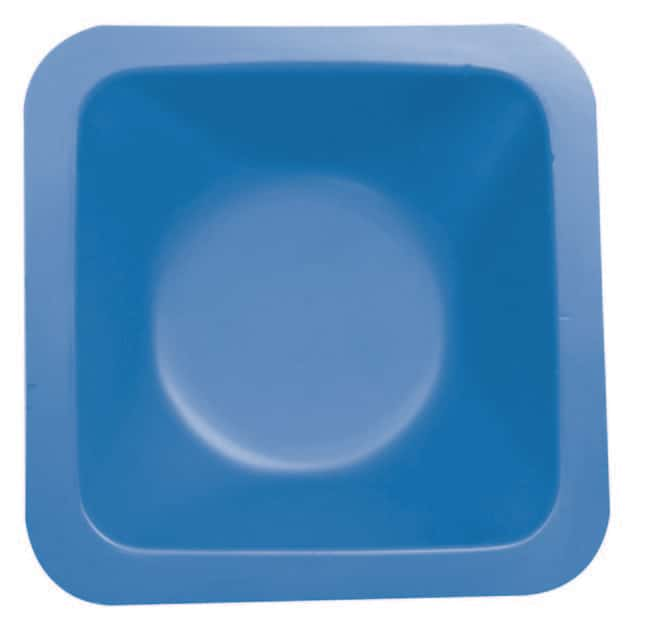 Fisherbrand™Polystyrene Square-Shaped Standard Weighing Boat Color: Blue; Capacity: 280mL Fisherbrand™Polystyrene Square-Shaped Standard Weighing Boat