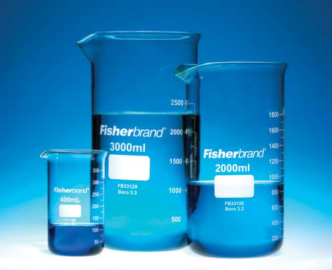 Fisherbrand™ Borosilicate Glass Tall Form Beakers Capacity: 400mL Fisherbrand™ Borosilicate Glass Tall Form Beakers