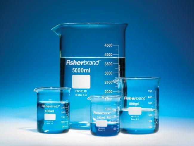 Fisherbrand™Vaso de precipitado de perfil bajo de vidrio borosilicatado con boquilla: Vasos de precipitados Vasos de precipitados, frascos, probetas y material de vidrio