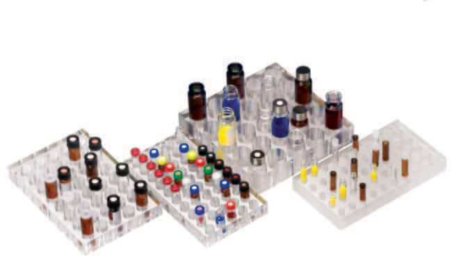 Fisherbrand™Gradillas de polipropileno para viales para muestreadores automáticos: Gradillas Gradillas, cajas, etiquetado y cinta