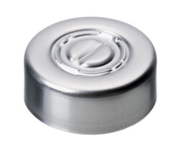 Fisherbrand™20-mm-Bördelkappe Mittelabriss, glatt Fisherbrand™20-mm-Bördelkappe