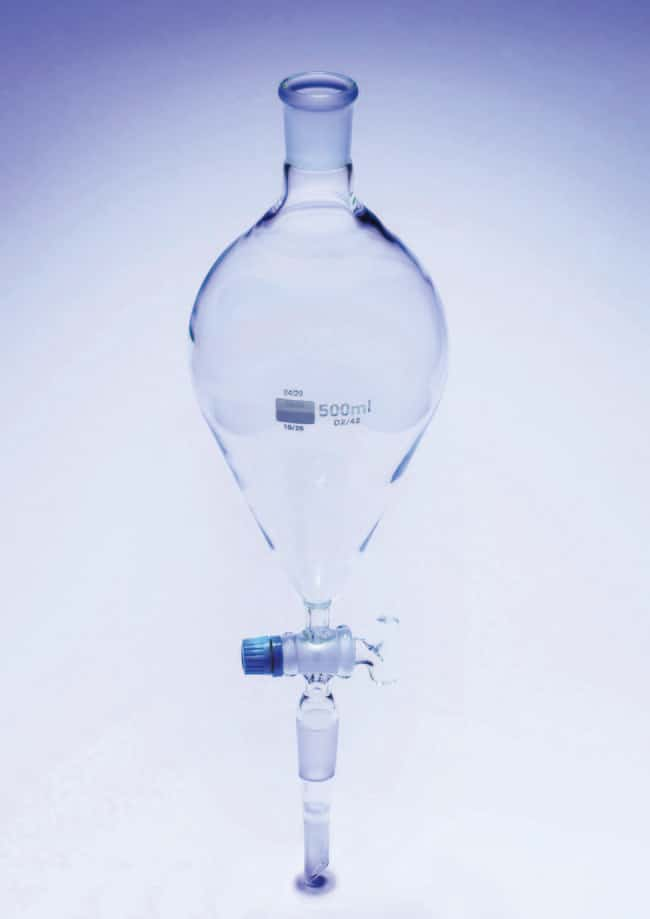 Fisherbrand Glass Pear Shaped Separating Funnel With Ptfe Stopcock Capacity 100ml Fisherbrand Glass Pear Shaped Separating Funnel With Ptfe Stopcock Fisher Scientific