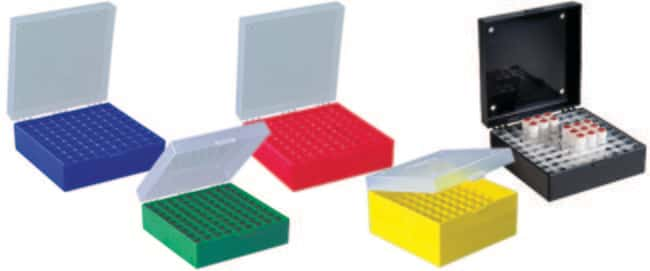 Fisherbrand™Cryobox 81 places, 9 x 9 grid autoclavable, with snap on hinged lid, stackable polypropylene for 3mL to 5mL cryotubes 133mm x 133mm x 75mm (pack of 5) Cryo and Freezer Boxes