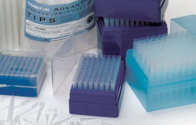 Hamilton™ Non-Filtered Low Retention Racked Pipette Tips Volume: 200uL; 10 racks; 960 total tips; Pre-sterilized Hamilton™ Non-Filtered Low Retention Racked Pipette Tips