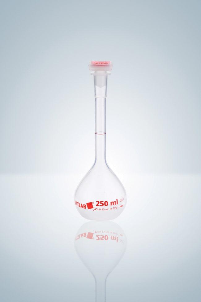 Hirschmann™Class A PMP Volumetric Flask with Stopper Capacity (Metric): 10 mL Hirschmann™Class A PMP Volumetric Flask with Stopper