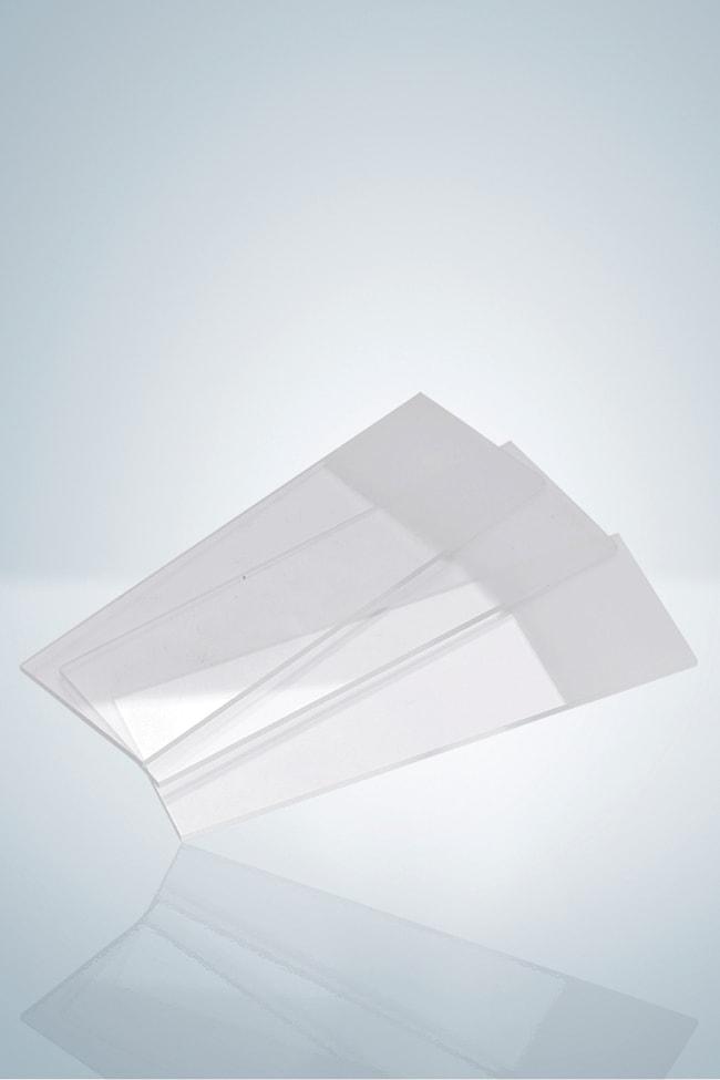 Hirschmann™Mikroskopobjektträger, geschliffene Kanten mit doppeltem mattiertem Ende: Objektträger aus Glas und Deckgläser Becher, Flaschen, Zylinder und Glasartikel