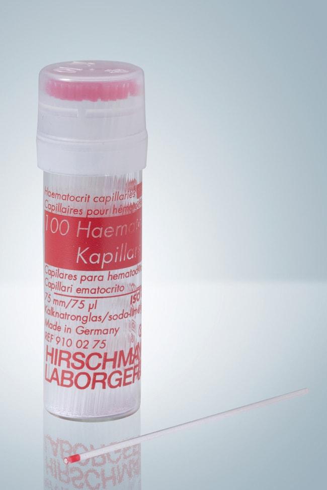 Hirschmann™Sodium Heparinized Hematocrit Tubes Capacity: 75μL Hirschmann™Sodium Heparinized Hematocrit Tubes