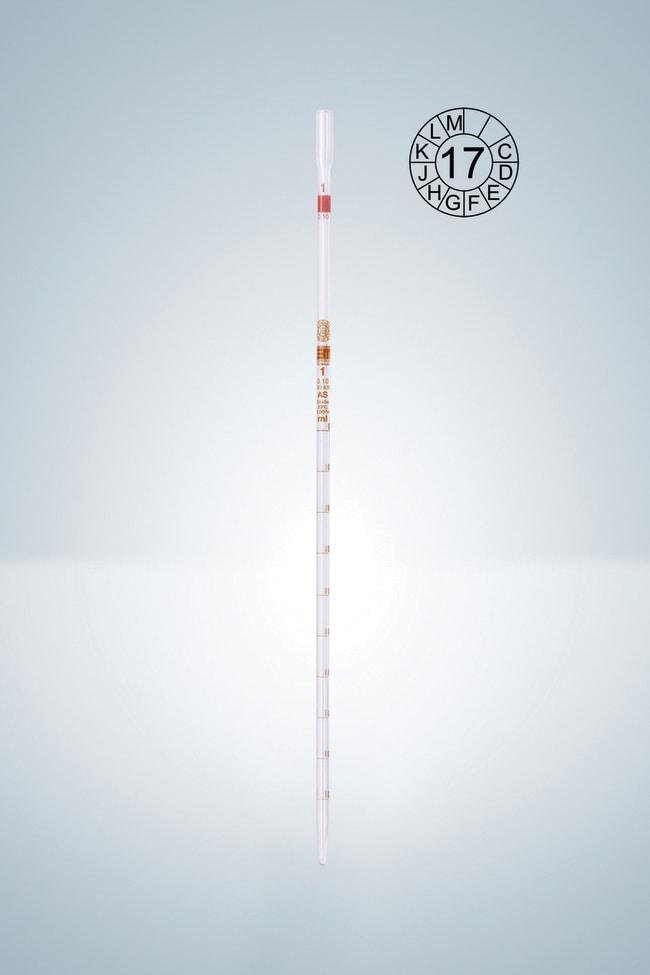 Hirschmann™Klasse AS, Typ 3 Pipetten aus Klarglas mit Graduierungen Fassungsvermögen (metrisch) 2ml, Graduierungen: 0,02ml Hirschmann™Klasse AS, Typ 3 Pipetten aus Klarglas mit Graduierungen