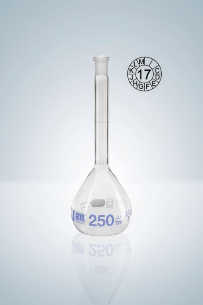 Hirschmann™Class A Volumetric Flasks with NS Ground Capacity: 5mL; Socket Joint: 7/16 NS Standard Ground Hirschmann™Class A Volumetric Flasks with NS Ground