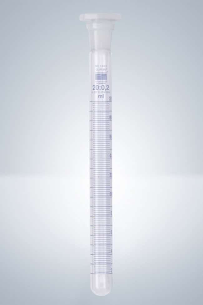Hirschmann™Borosilicate Glass Test Tubes, Blue Graduation Capacity: 20 mL Hirschmann™Borosilicate Glass Test Tubes, Blue Graduation